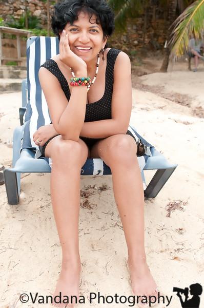 At Mahogany Bay beach resort, Roatan, Honduras - Dec 2011