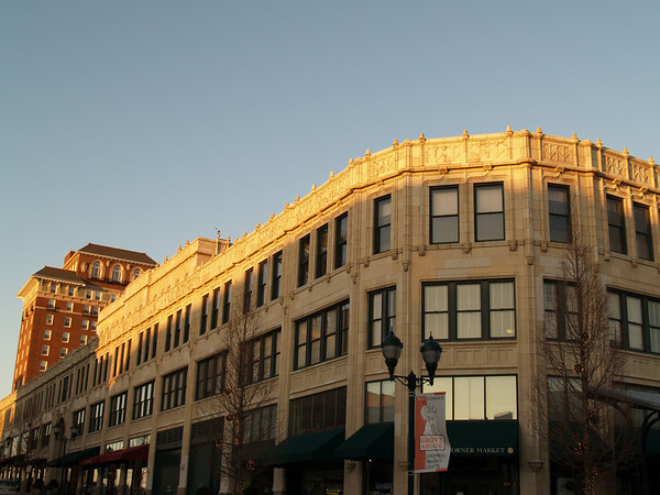 Grove Arcade in the Golden Hour; Asheville, NC