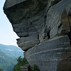 """""""Wild Cat Trap"""" rock formation along trail; Chimney Rock S.P., NC"""