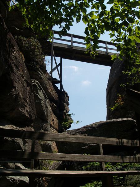 """bench & """"boardwalk"""", Chimney Rock S.P."""