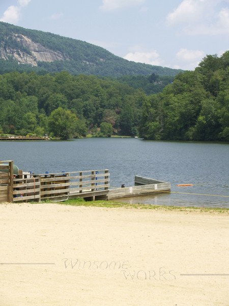 Lake Lure, with Chimney Rock S.P. in background