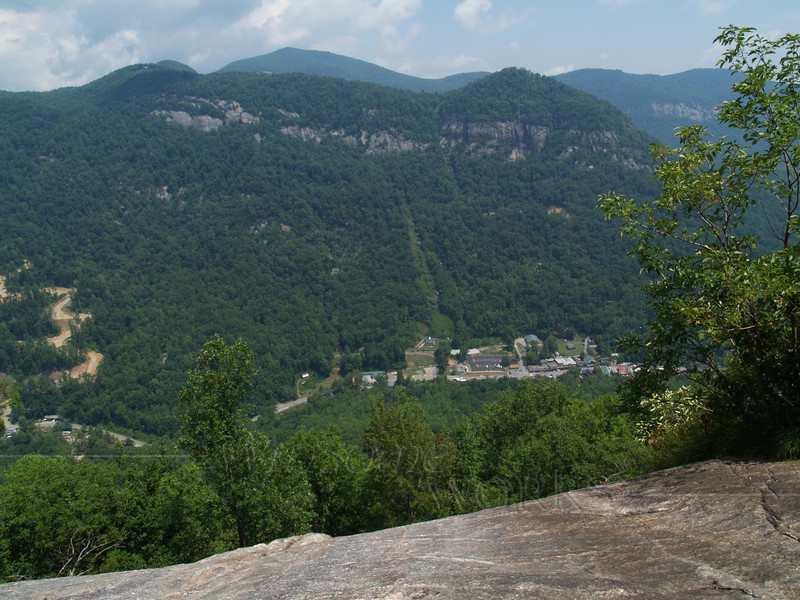 view across the gorge from Chimney Rock