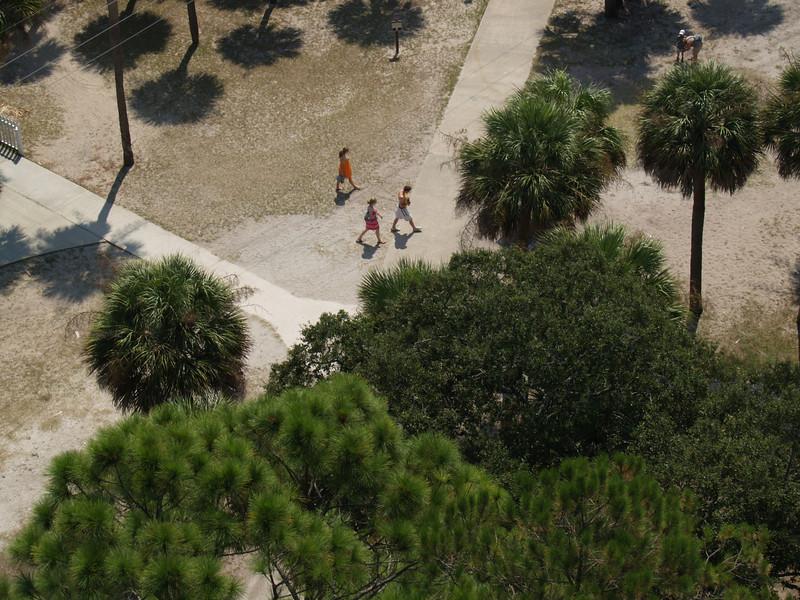 Our kids walking to ocean