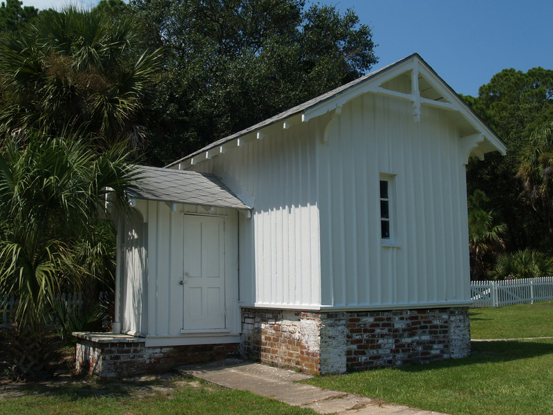 Storage shed at lighthouse