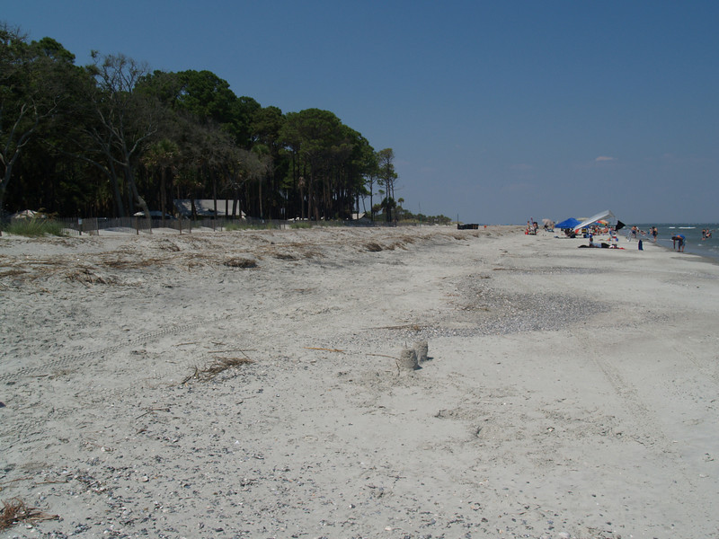 Looking NE from camping area, Hunting Island