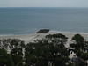 View of sea from lighthouse deck, Hunting Island