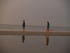 Rob & Lydia in sunrise, Hunting Island