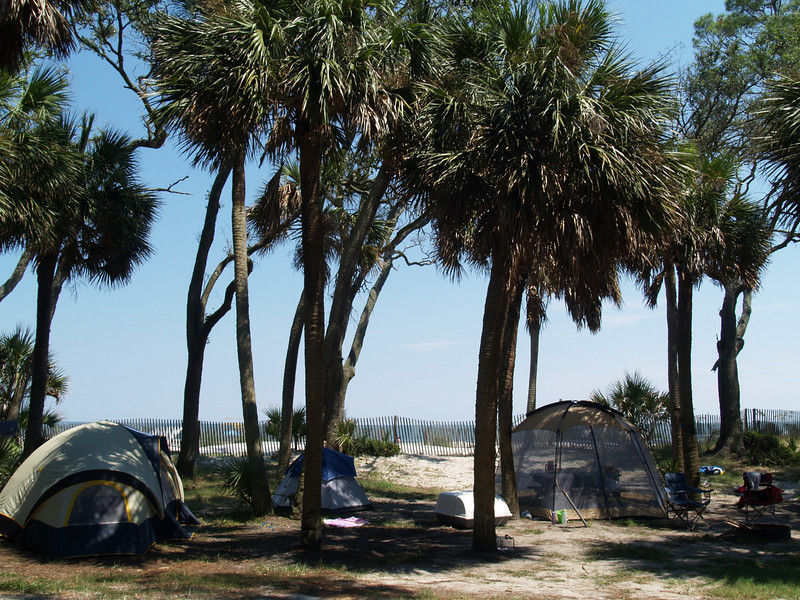Our campsite, Hunting Island State Park