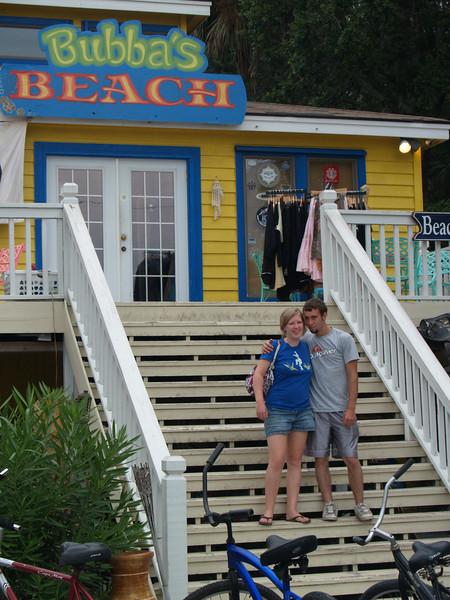 Trudy & Bryan shopping at Bubba's