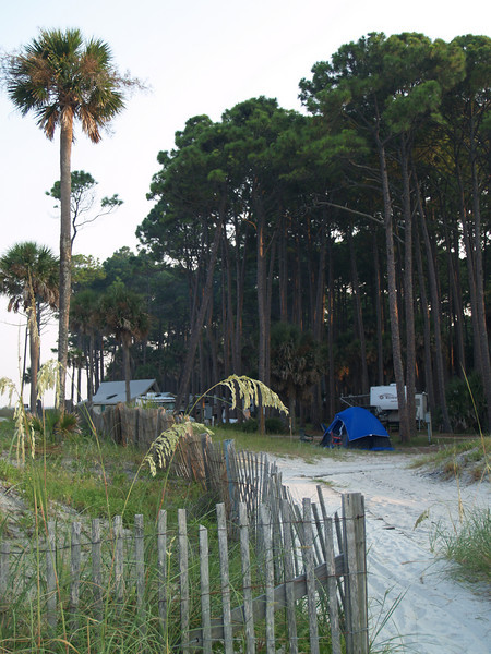 End of camping area, Hunting Island