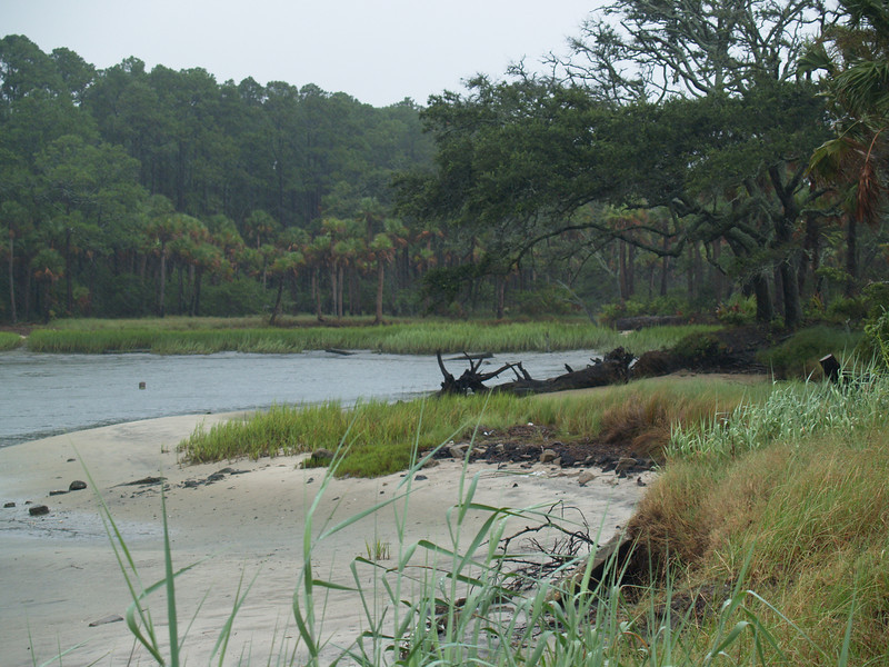 Lagoon at the South end of Hunting Island