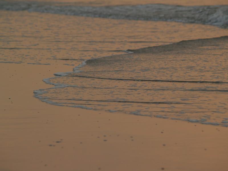 Edge of sea, sunrise