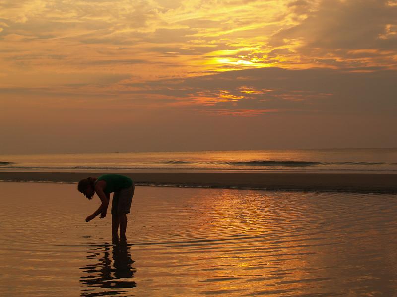 Lydia in sunrise, Hunting Island