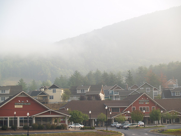 Newer village near Fairview, NC-- early morning