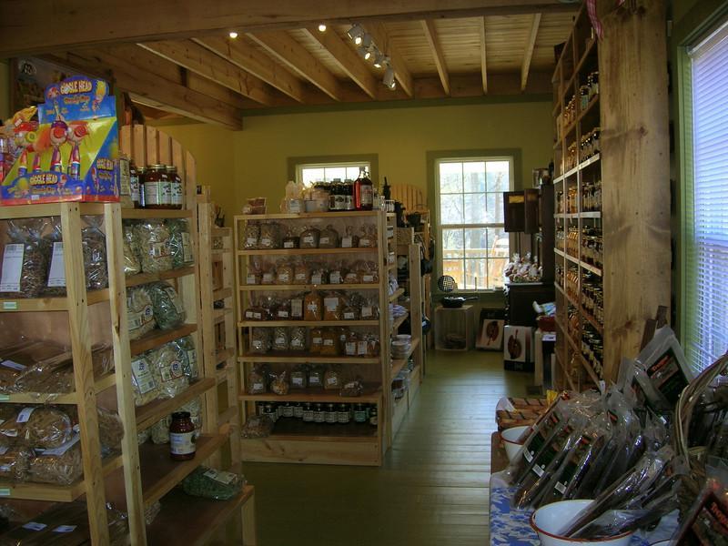 Stocked-full shelves, Troyer's