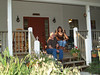 Phil & Bonnie (owners) on front porch of store