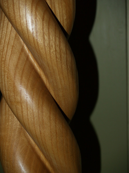 Detail of a wooden stand