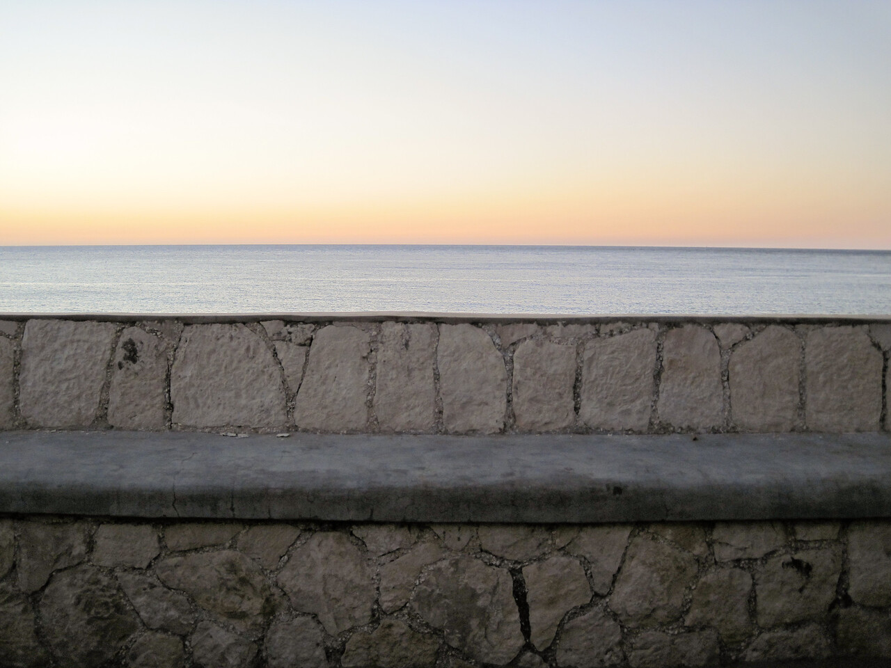 Horizon from bench at The Sands