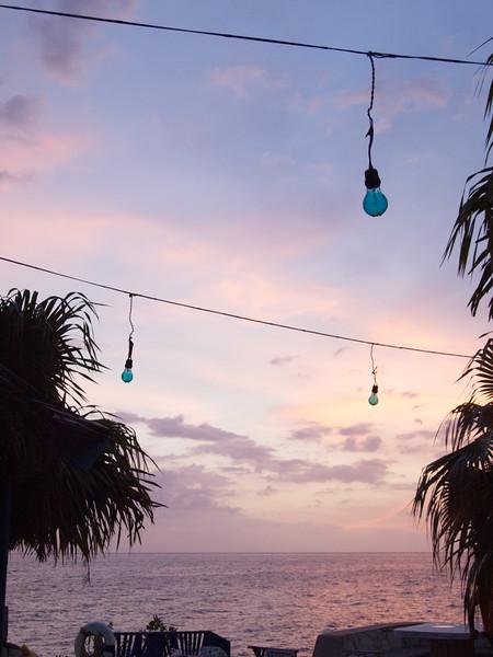 Blue lights at The Sands