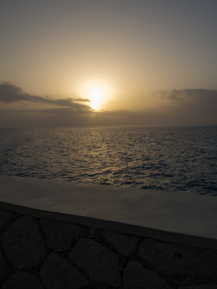 Sunset over Wall at the Pool