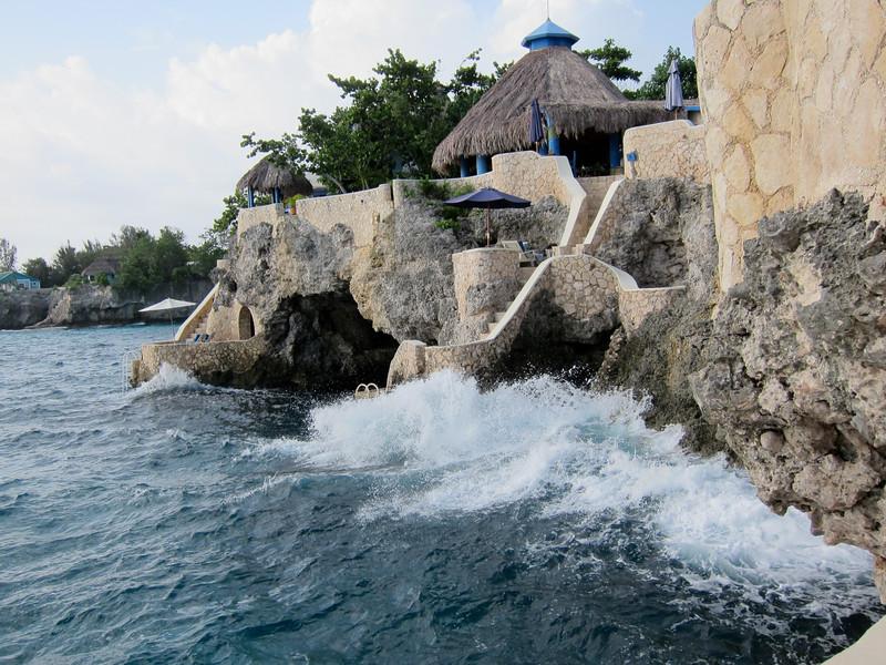 Waves Splash near Morning Lounge