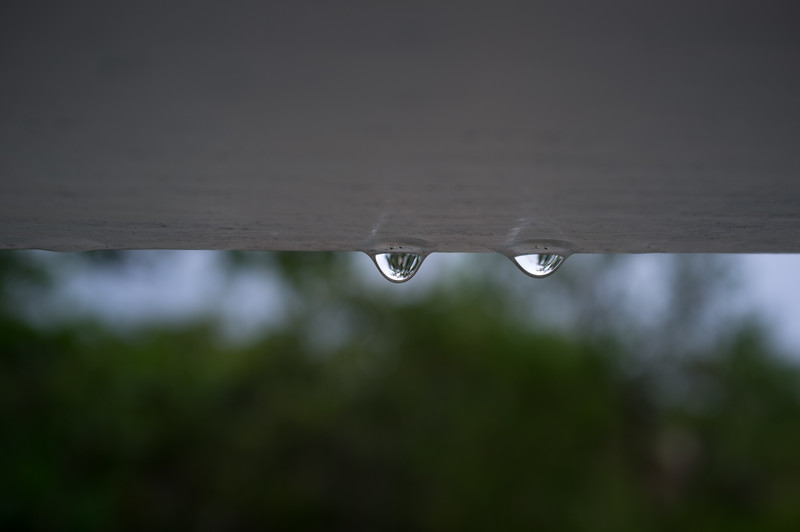 Raindrops on Window Louvers