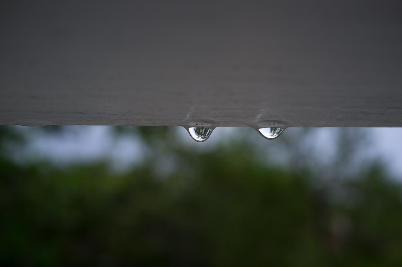 Raindrops on Window Louvers