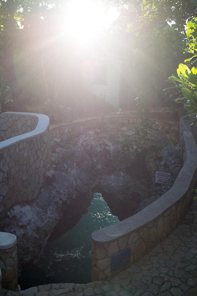 Sunrays over the Blue Hole