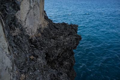 The sea off step below Sundancer