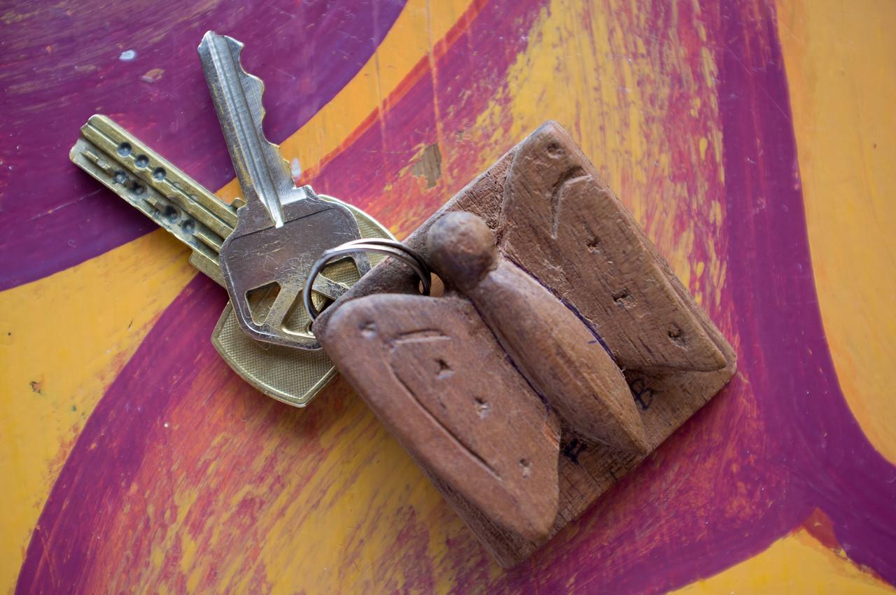 Butterfly Keys on table