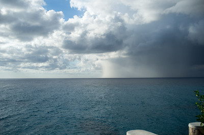 Raining at sea from the Morning Lounge