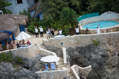 Roy, Shabba, Karen G, Elvis, Bryan, Paul, Rambo and resort guests