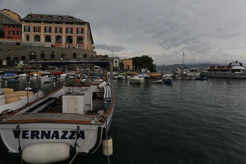 The good boat Vernazza docked in Portovenere.