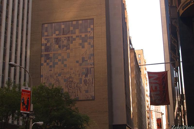 mosaic amidst the high rise