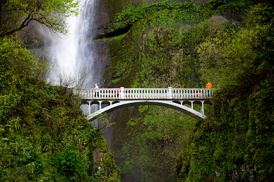 The Multnomah Falls Bridge.