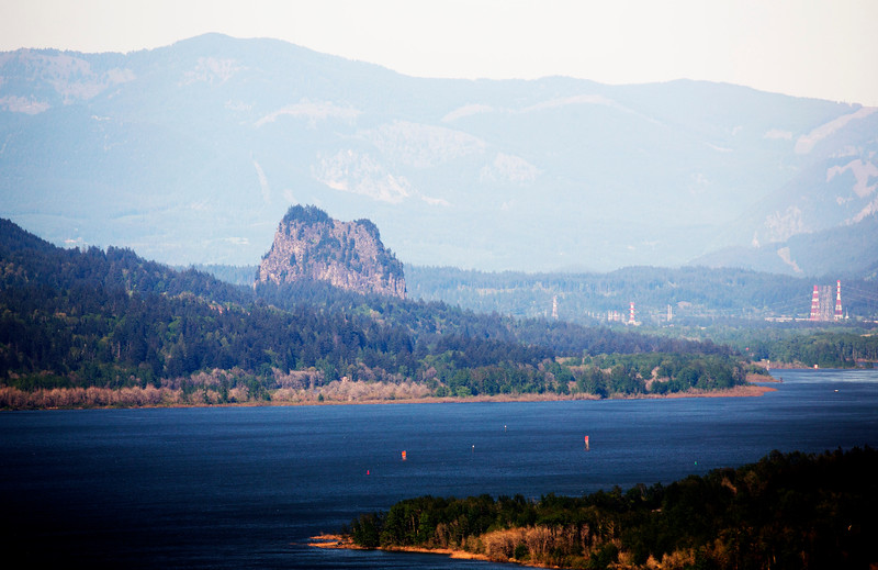 Beacon Rock on the Washington side of the River.