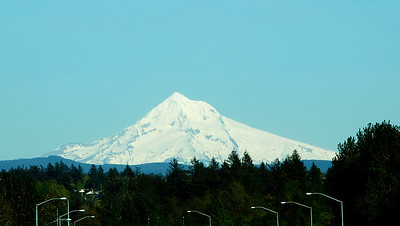 Mount Hood dominates the view as we head up the Gorge.