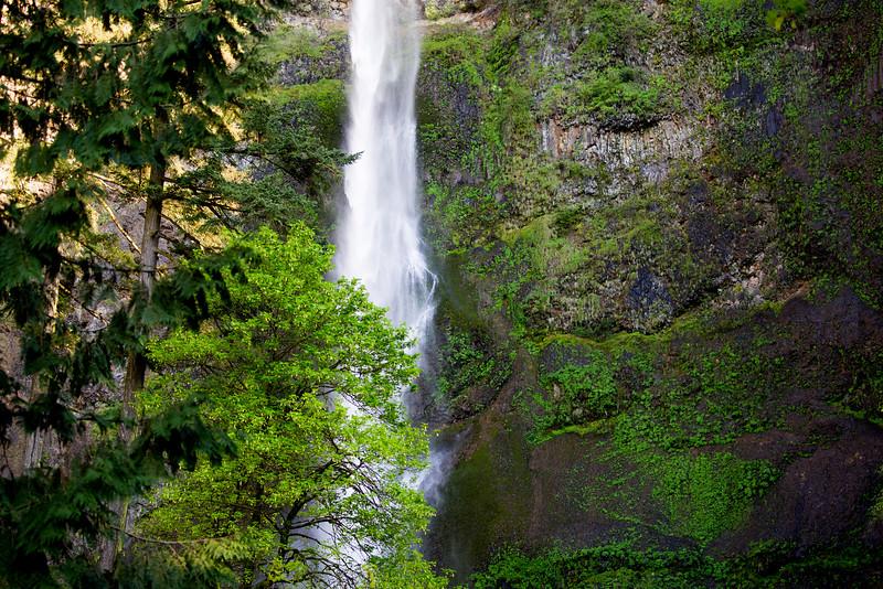 Detail of Upper Multnomah Falls.