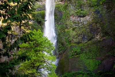 Detail of Upper Multnomah Falls.