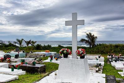 Roratonga graveyard