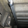 Underfloor support for the floor panel mounting