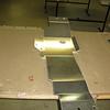 Transfercase protection plate pre-installation.