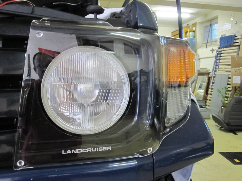 Headlight protection panels. This is an original Toyota-Australia option for the car. ORB is supplying the parts for Switzerland.