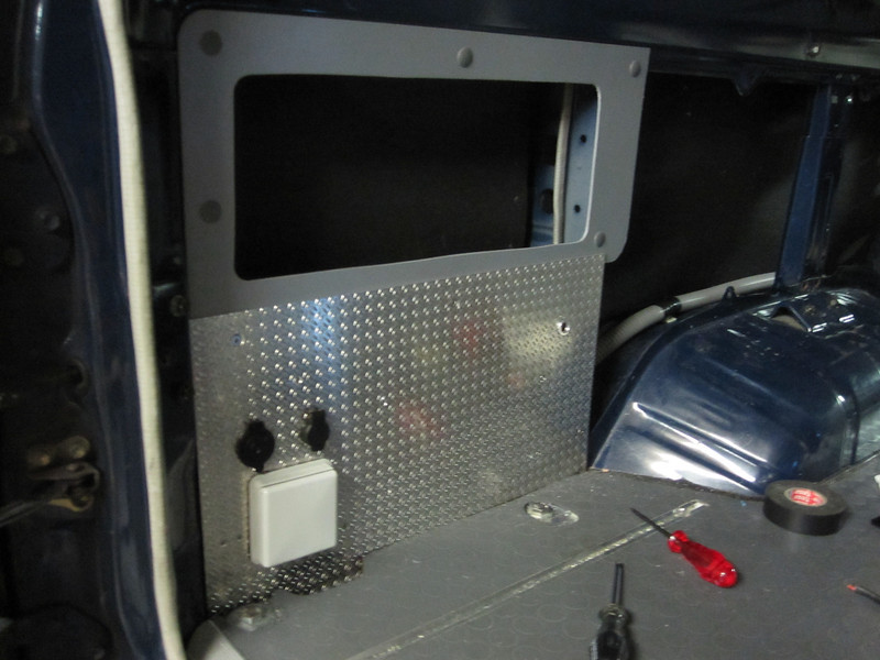 During installation of the LH rear power panel.