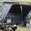 Another rear awning option, triangle side covers.