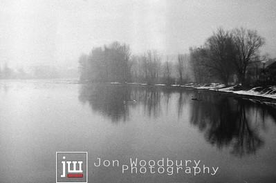 Slovak Lake - Zilina, Slovakia. ca 1995 Shot on Svema 64 film.