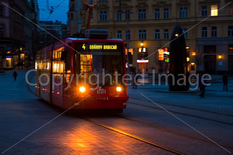 Streetcar in Brno
