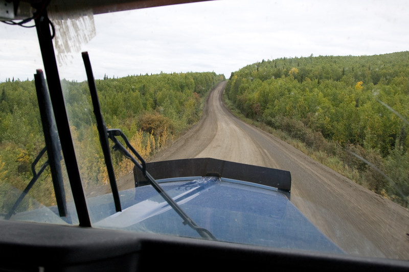 Just starting up the highway north of Fairbanks.