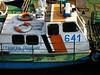 A police boat in Svistov, Bulgaria.