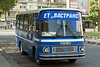 A Bus in front of the Train Station in Vidin, Bulgaria.